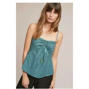Anthropologie Maeve Cannes Convertible Tank Green